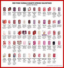 jamberry half sheets  red pink spring floral  valentine sale new stock
