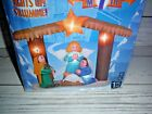 New Gemmy Christmas Holy Nativity Scene Airblown Inflatable