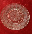 HERITAGE CRYSTAL BY FEDERAL GLASS 2 DINNER PLATES 9.25 inches.