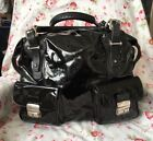 Pauric Sweeney Bags Large Patent Leather Handbag made in Italy external pockets