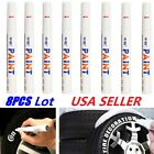 5PC White Paint Pen Marker Waterproof Permanent Car Tire Lettering Rubber Letter