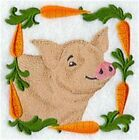 Series - 9 X 12 Embroidered Quilt Block-pre Order- Country Charm Animal Square