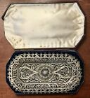 ANTIQUE RUSSIAN 84 SILVER FILIGREE TRAY FROM 1840 ORIGINAL BOX MAGNIFICENT.