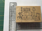 2 Retired Art Impressions rubber stamps T 1347 and G 1569 Scene creators