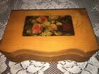 Vintage Wood Dresser Box Dovetailed With Mirror Neat Old Box