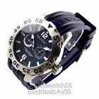 NEW NAUTICA MENS YACHTING SPORT DRESS  WATCH N16601G BLUE  RUBBER SILICONE STRAP