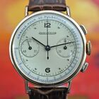 SWISS JAEGER LECOULTRE VINTAGE MEDICAL CHRONOGRAPH 18K SOLID GOLD GENTS WATCH