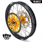 KKE 2.15*19 REAR WHEELS RIMS SET FIT SUZUKI RM125 2001-2007 RM250 2001-2008 GOLD
