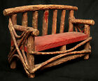 Settee, Bench, Miniature, Naturalistic Rustic willow twig, Adirondack, c1900,15