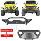 Front Bumper w Winch Plate  Gladiator Grille Insert for Jeep Wrangler TJ 97 06