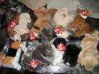 TY BEANIE BABIES TUFFY OTIS FRISBEE RUFUS POOFIE TRACKER TINY FETCH DOG