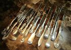 Lot 14 Victorian Fancy Silver Plate Twisted Master Butter Knives