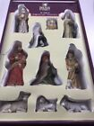 HOLIDAY TIME 10 PIECE PORCELAIN NATIVITY SET WITH BOX