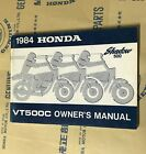 HONDA VT500C, 1984 Honda Shadow 500 Owners Manual.