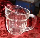 Vintage Clear Pressed Glass Small Pitcher 4 1/4