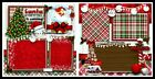 Santa Is Coming 12in x12in DIGITAL PRINT Pre made Scrapbook Pages Olivia Pieces