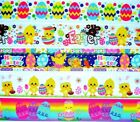 78 Or 1.5 Grosgrain Ribbon Mixed Lot Of Easter Chicks Eggs Bunny Printed.rx1