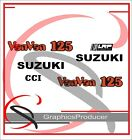 Suzuki RV RV125 VanVan 125 Decals Stickers Reproduction Full Set  White Model