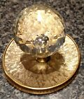 Crystal Ball Drawer / Door Knob With Solid Brass Backing Vintage.