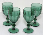 4 Libbey Duratuff Gibraltar Juniper Green Water Glasses Goblets 12 oz. - Set B