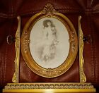 Antique Style Oval Ornate Swivel Wood Look Picture Frame