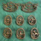 Antique Victorian Drawer Pulls Brass Set Of 8 Very Ornate