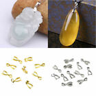 10 Pcs Pendant Buckles Jewelry Making DIY Stone Supplies Snap Joint Clasp Alloy