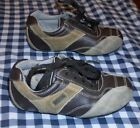 Toddler Boys Kenneth Cole Reaction Brown Leather Sneaker Church Shoes Size 7M