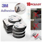 High Quality 10Pcs 3M Double Sided Tape Black Rounds Square Strong Foam Tape