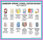 jamberry half sheets lot  easter spring floral polka dots  buy 3+ 15 off