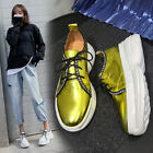 Punk Goth Womens Casual Shoes Fashion Leather Sneaker Platform Trainers Boots