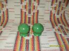 MEDIUM GREEN  FIESTA  SALT & PEPPER SHAKERS - MINT !! - FIESTAWARE
