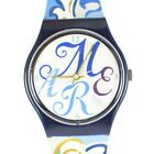 Swatch Watch Swiss Made Vintage 90's Blue Gold Colorful Running B489/SW1.106