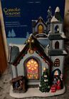 Carole Towne St John Church Christmas Village Nativity Caroler Lighted 11 MIB