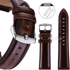 18 20 22mm Quick Release Pin Retro Leather Watchband Wrist Strap With Ss. Buckle