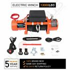 13000lb Electric Recovery Winch 86ft Synthetic Wire 12V for Jeep Truck SUV IP68