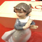 Nao Hand Made Lladro 01089 Mis Flores Bambina con fiori little girl flowers