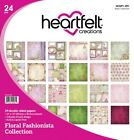 Heartfelt Creations Double Sided Paper Pad 12X12 24 Pkg Floral Fashionista