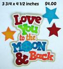 LOVE YOU TO MOON  BACK TITLE BOY scrapbook premade paper piecing by Rhonda