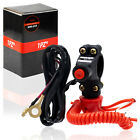 Boat Motor Kill Stop Switch 12V Safety Tether Lanyard Cord For Yamaha Outboard