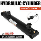 Hydraulic Cylinder Welded Double Acting 15 Bore 12 Stroke Cross Tube 15x12