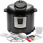 Programmable Pressure Cooker Black Stainless Steel Multi-Use 6 Qt 6-in-1 New