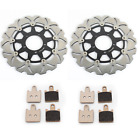 Front Brake Discs Rotors Pads for Kawasaki ZG1400 Concours ABS 08-14 ZX14R NINJA