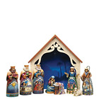Jim Shore Heartwood Creek 9 Piece Mini Nativity Set Stone Resin Figurine 975