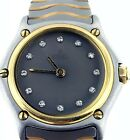 Ebel Sport Wave 18Kt Yellow Gold+Stainless Steel with Factory Diamond Dial Watch