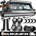 50 700W LED Light Bar+4x 3 CREE PODS OFFROAD for 1997 2006 Jeep Wrangler TJ