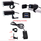 New Motorcycle Mobile Phone Charger QC3.0 Fast Charge Dual USB 12-24v Universal