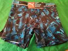 Puma Men's 2 Pack tech Boxer Brief NWT Small Blue Black Stretch Logo Waist