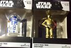 Hallmark Set Of Two - R2D2 & C3PO Star Wars Christmas Ornament - New In Box