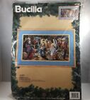 BUCILLA Christmas Nativity Kit Needlepoint 60735 New Old Stock 18x10 Nancy Rossi